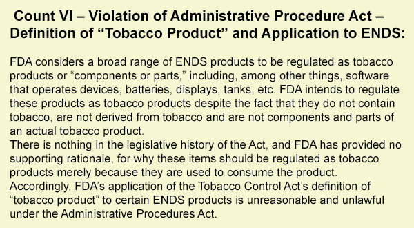 Vaping-Industry-Files-FDA-Complaint-In-DC-count-6