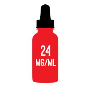 24mg nicotine strength e-liquid