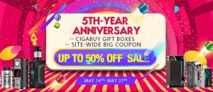 Cigabuy 5-Year Anniversary Sale