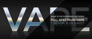 Full Spectrum Vape CBD Oil and Isolate