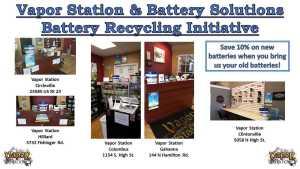 Vapor Station Battery Recycling