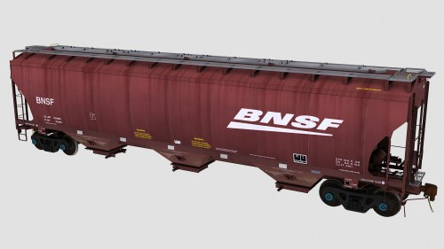 BNSF Trinity 3-Bay Covered Hopper 2