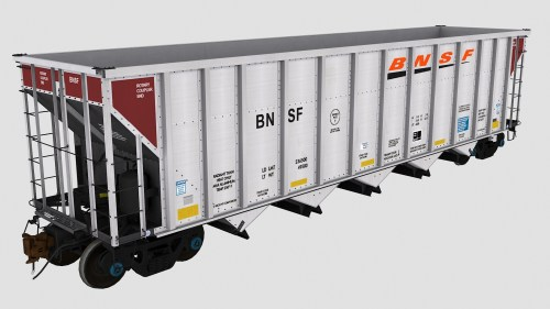BNSF 699621-699625 FCA Autoflood 3 5-Bay Hopper