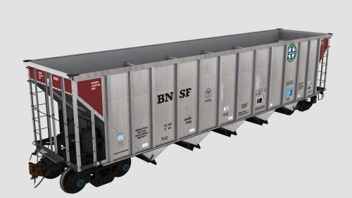 BNSF 699601-699609 JAC Autoflood 3 5-Bay Hopper
