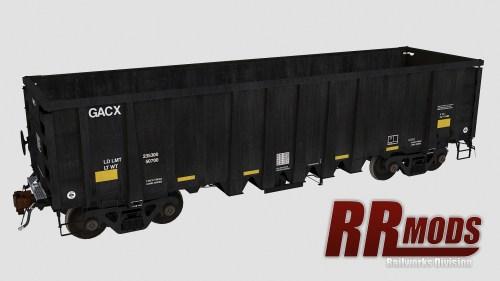 GACX 54970-55052 NSC 2500cf Aggregate Gondola for Railworks