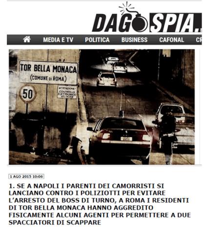 giornalismo manipolativo, pregiudizi veicolati su cittadini napoletani e romani