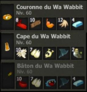 Dofus Retro : Obtenir le Dofus Cawotte, panoplie Wa Wabbit