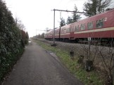 Fietspad langs de spoorweg