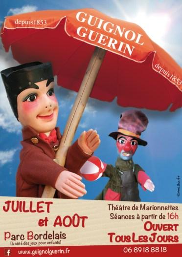 affiche guignol guerin, spectacles été pour les enfants au parc bordelais