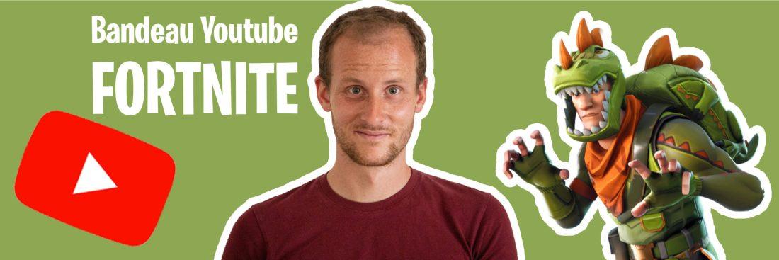 Bannière youtube fortnite