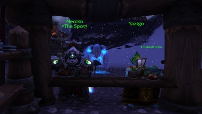 I sit alone with my NPC friend, Yazigo.