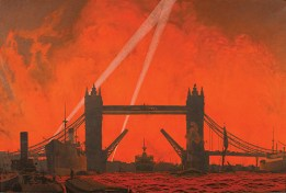 Charles Pears (1873-1958), Blitz. Our London Docks, 1940, oil on canvas. Guildhall Art Gallery, City of London.
