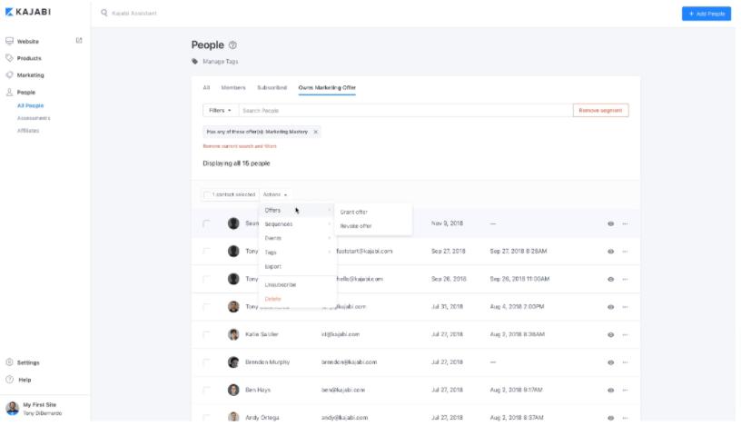 Kajabi community management feature