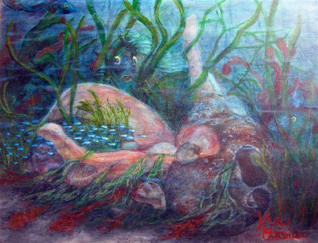 ©Karla Carillo, Underwater Fantasy. Oil, 11 x 14 inches.