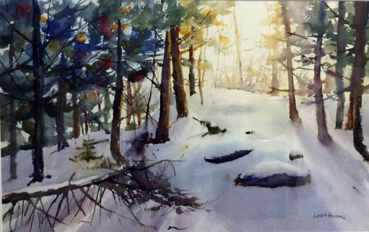 """Winter Warmth"", award-winning watercolor by Larry Folding"