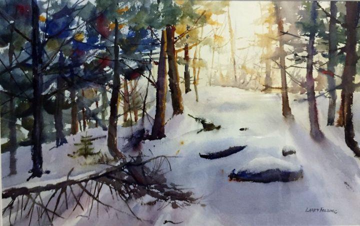 """Winter Warmth"", award-winning watercolor by Larry Folding"