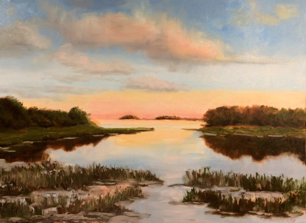 ©Barbara Hageman, Cape Cod Dusky Sunset. Oil, 30 x 40 inches.