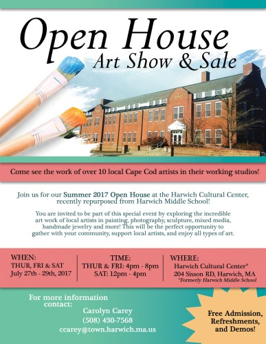 Open House Art Show & Sale, July 27 - 29