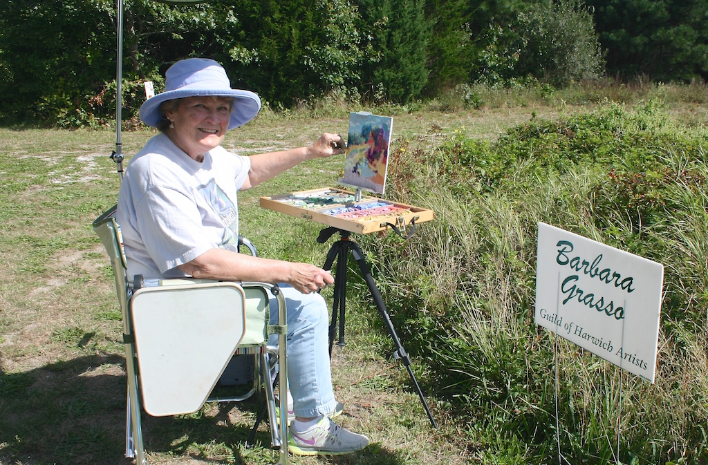 Barbara Quinn Grasso, 5th Annual Harwich Conservation Trust Wildlands Music & Art Stroll ©Kathleen Magnusson