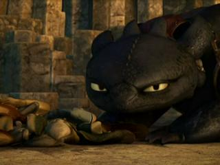 Toothless and Fish