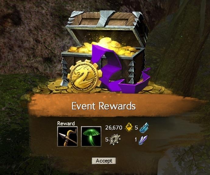Treasure Mushroom Rewards