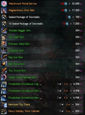 Wintersday Vendor Skins