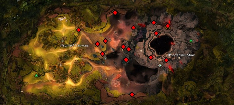 Ground Level Bloodstone Node Map