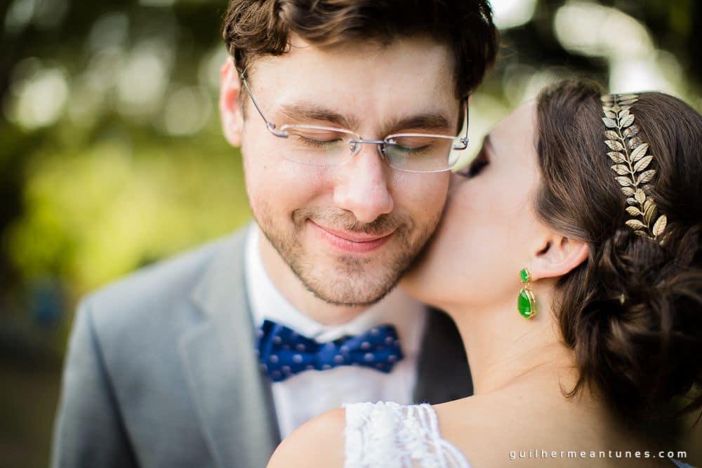 Fotografia de Casamento em Florianópolis: Elisa e Gustavo (Beijo - fotógrafo de casamento)