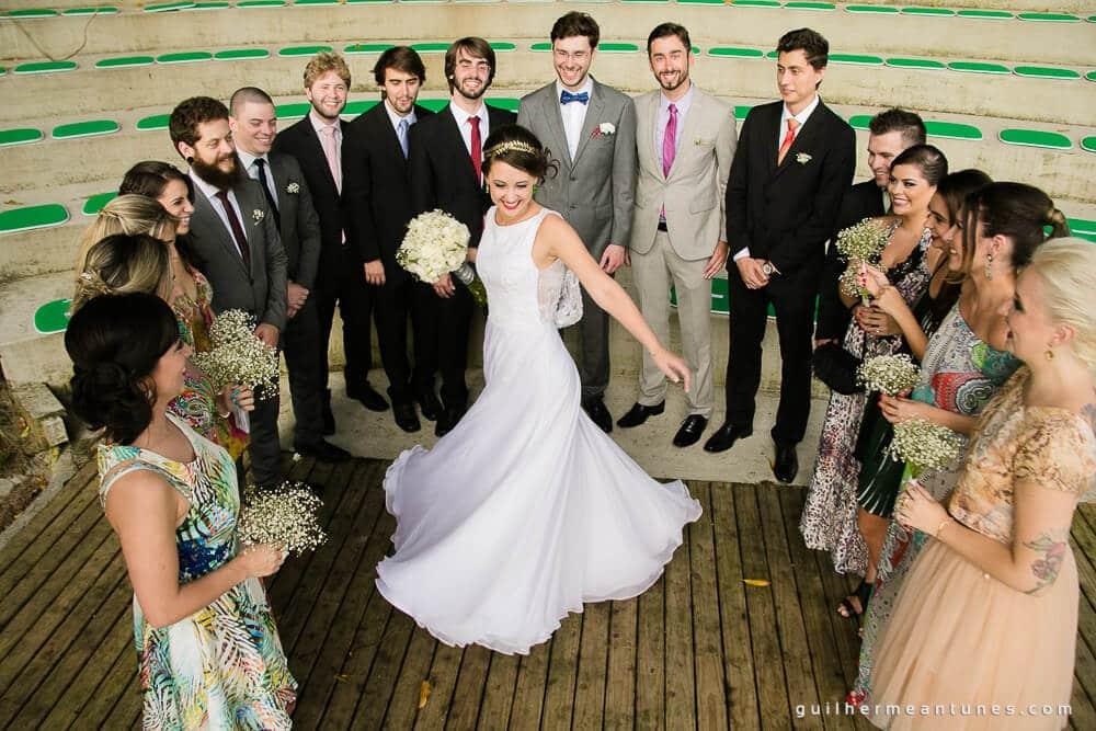 fotografia de casamentos em Florianópolis de dia e a noite