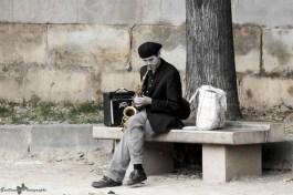 Paris autrement - le Saxophoniste