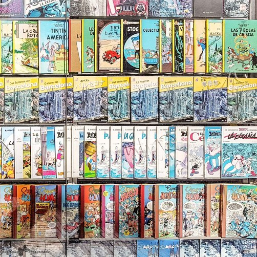 Barcelone - The wall of the BD