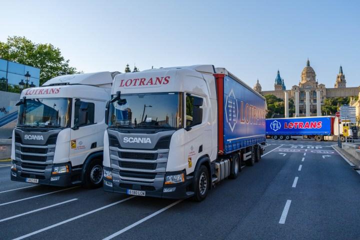 Lotrans Portes, reportaje de la nueva flota de camiones