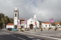 Iglesia de Santiago del Teide, un pequeño pueblo de montaña.