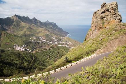Carretera de Taganana, región de Anaga.