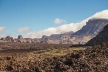 Parque Nacional del Teide; vistas del alto de Guajara con formaciones típicas basálticas.