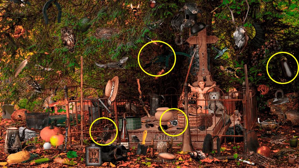 objetos escondidos ocultos