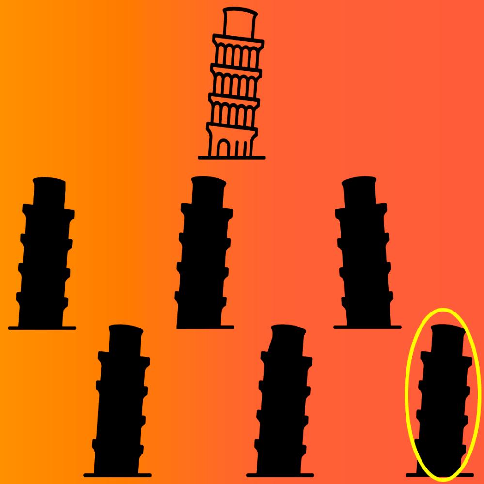 Juego mental online respuesta Torre Pisa