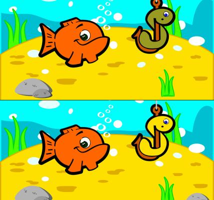 Encuentra las diferencias juego peces
