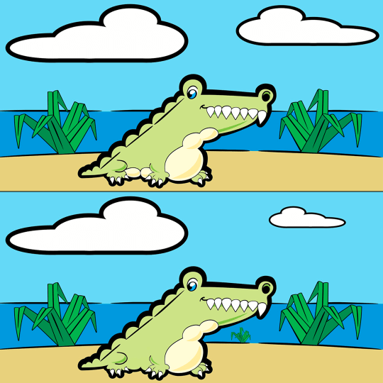 Spot the difference Crocodile