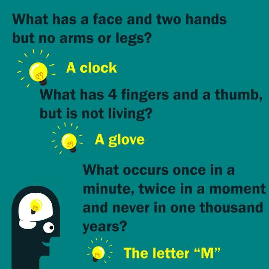 ANSWERS RIDDLES