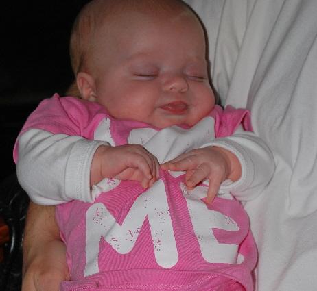 My shirt says, I LOVE ME!  Cute...