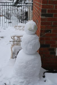 My own personal snow person right outside the door...