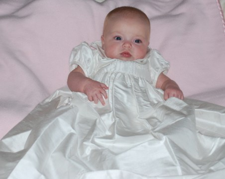 I was so good, let's just say this was a lot of dress for one princess!