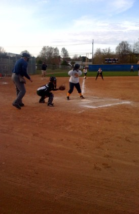 She is hard at work catching for her team... I also have cousin Brit who pitches softball... maybe I will play one day!