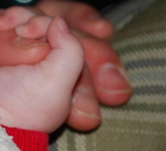 Holding Poppy's Hand!