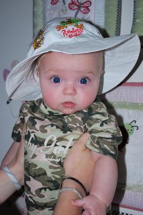 I have a safari hat... cute huh?