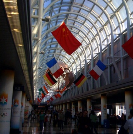 Chicago O'hare !   I was awesome!  Loved all the attention I got!