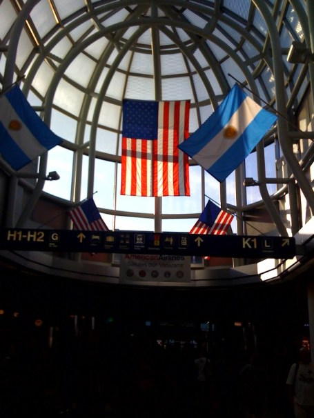 O'Hare - Chicago.... went to pick up my Uncle Nick from his year away in the South Pacific.   I hope mom and dad fly home soon too!
