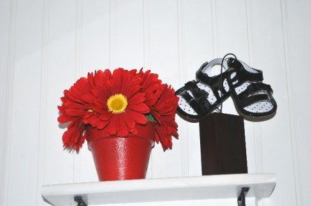 Black patent sandals... every infant needs a pair.... NOT, NEVER EVEN WORN, BUT A VERY CUTE GIFT!