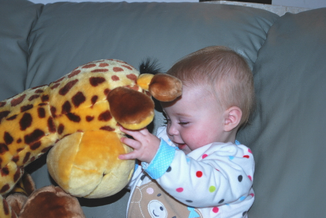 I love this giraffe... but tonight I was just plain too tired for any kind of flack... so what's a little drool anyway... NO BIGGIE... YOU SHOULD SEE THE STREAMS OF DROOL MR. GRIFF DELIVERS!